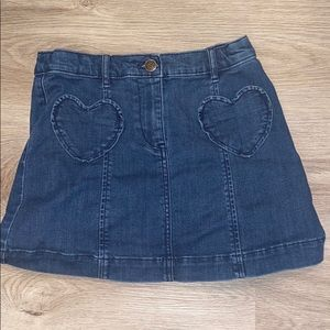 Crewcuts Denim Skirt With Heart Pockets